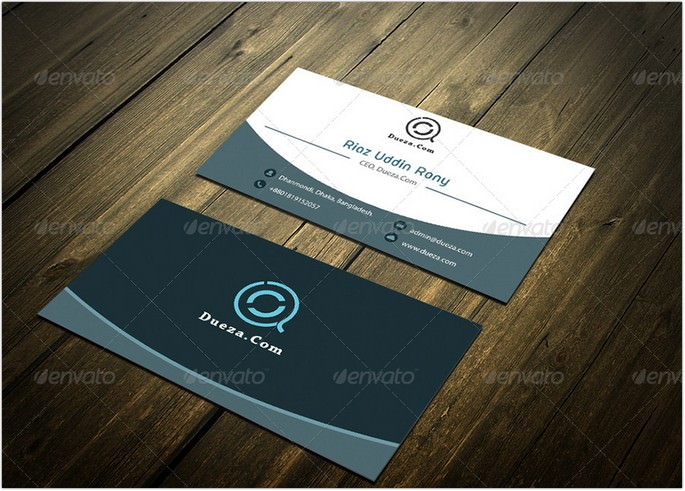 White Blue Visiting Card