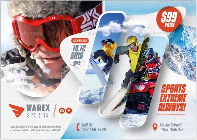 Winter Adventure Flyer Templates