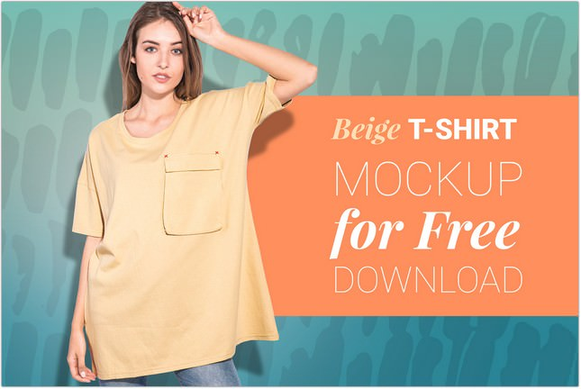 Woman oversize T-shirt psd