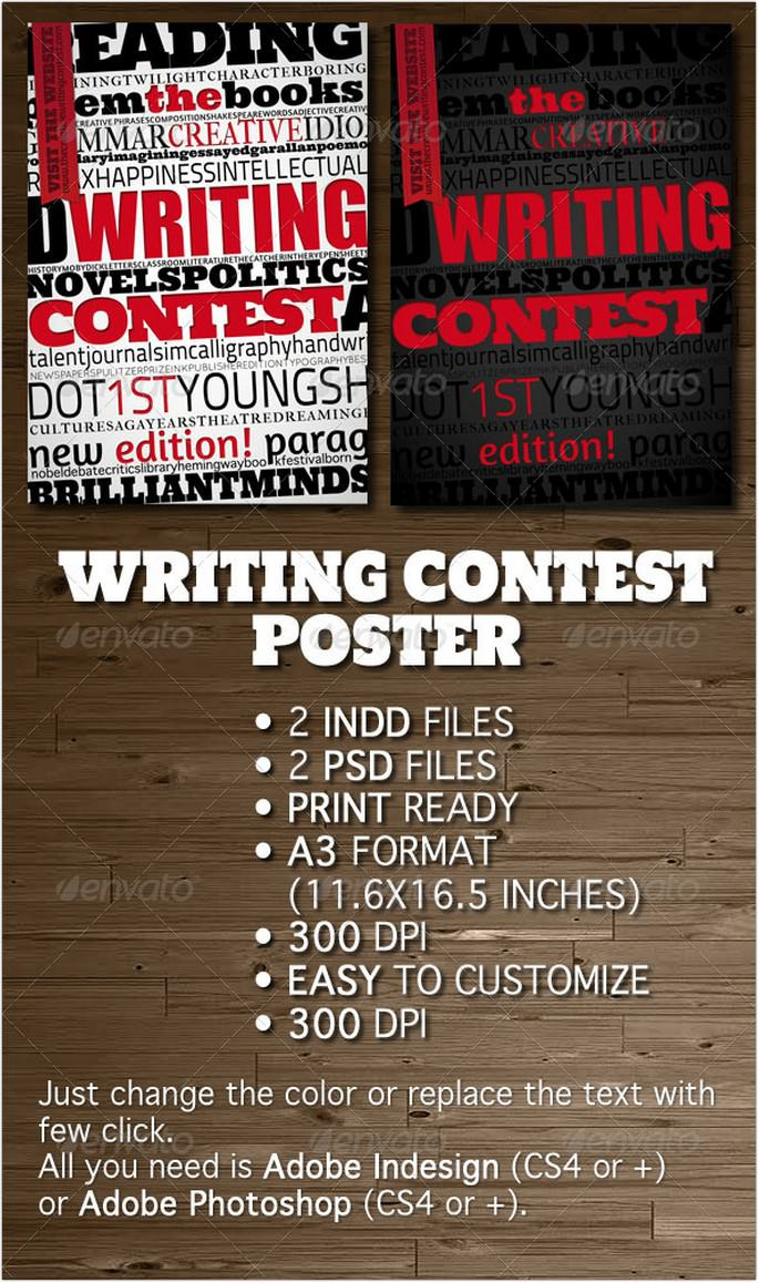 Writing Contest Poster Flyer