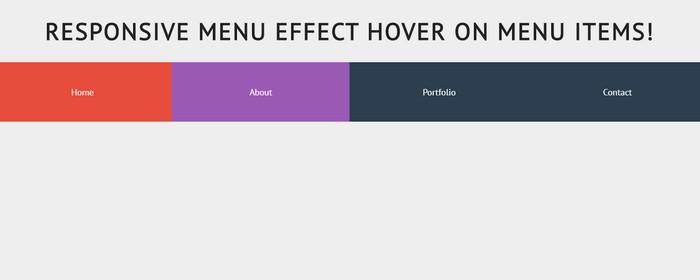 css3 Responsive menu effect