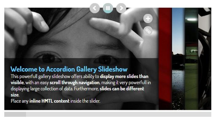 jQuery Accordion MultiPurpose Gallery Slideshow