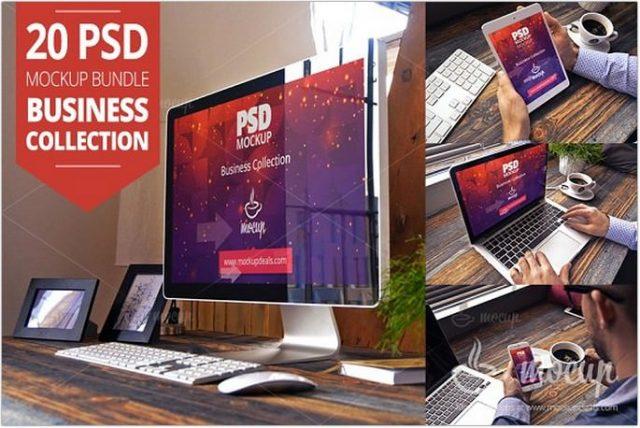 20 PSD Mockup Bundle Business