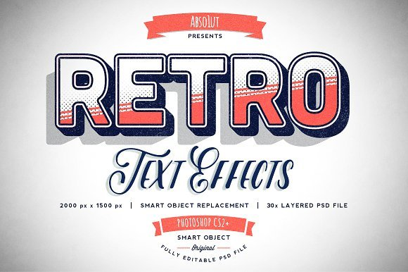 30 Retro Vintage Text Effects