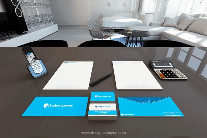 3D Identity Mockup Design
