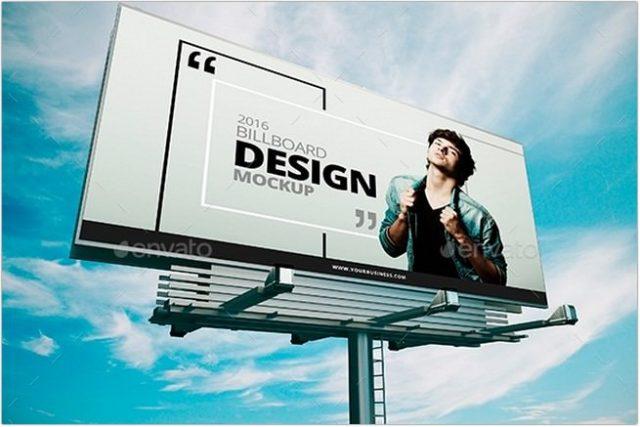 4 Billboard Mockup