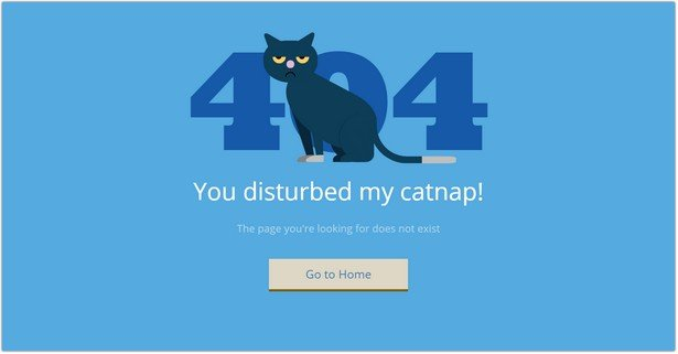 404 Error Pages - Pure CSS Animated Cat and Cow