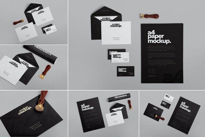 6 Stationery Design Mockups