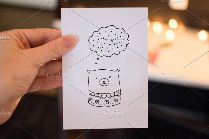7 Mockups for Postcards