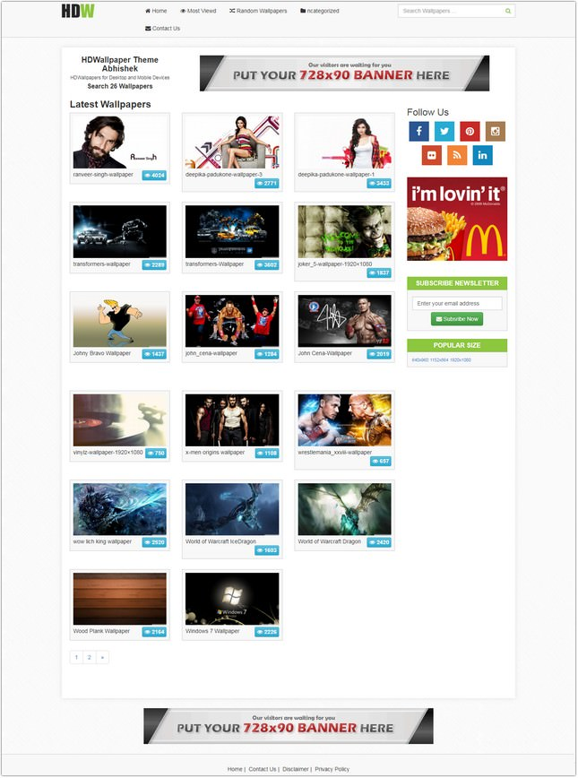 Abhishek Wallpaper WordPress Theme