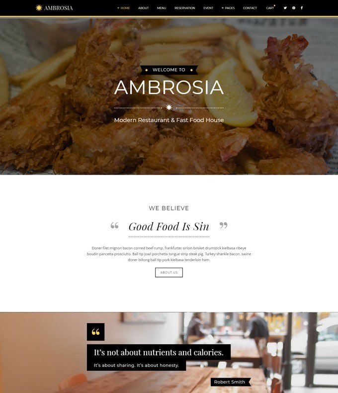 Creative Restaurant HTML5 Template