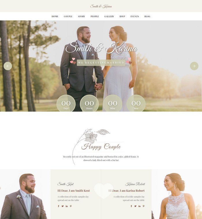 Amour - Responsive HTML Wedding Template