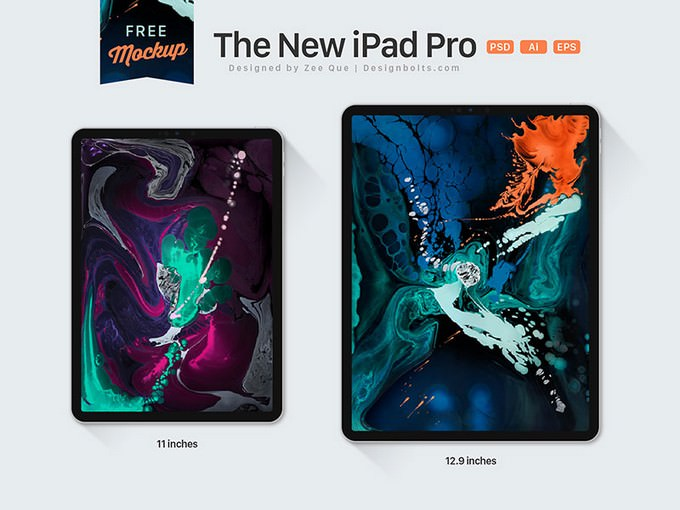 Apple iPad Pro 11 & 12.9 Inches All Screen Mockup