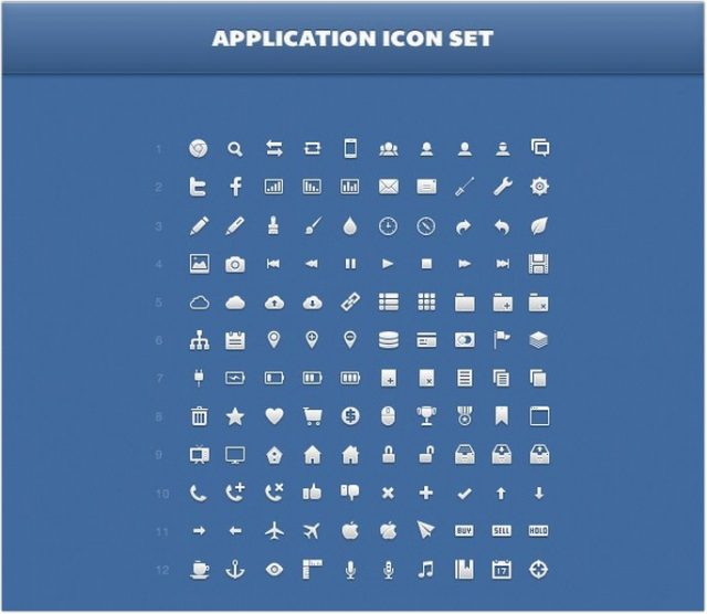 Application Icon Set ( PNG, PSD, CSH)