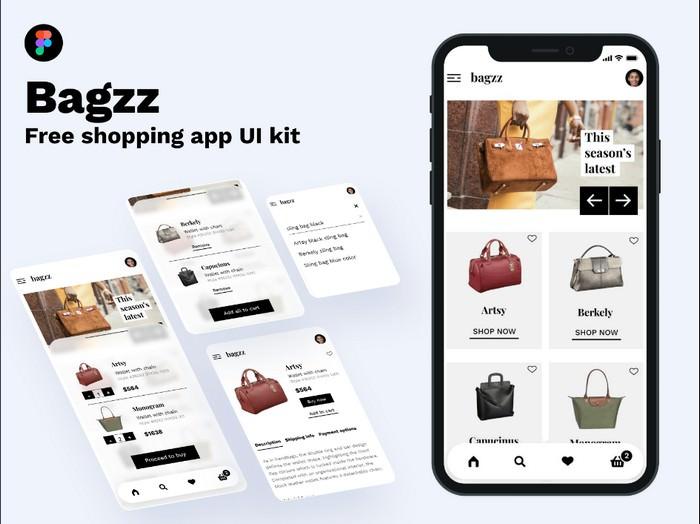 Bagzz - Shopping app [Free UI kit]
