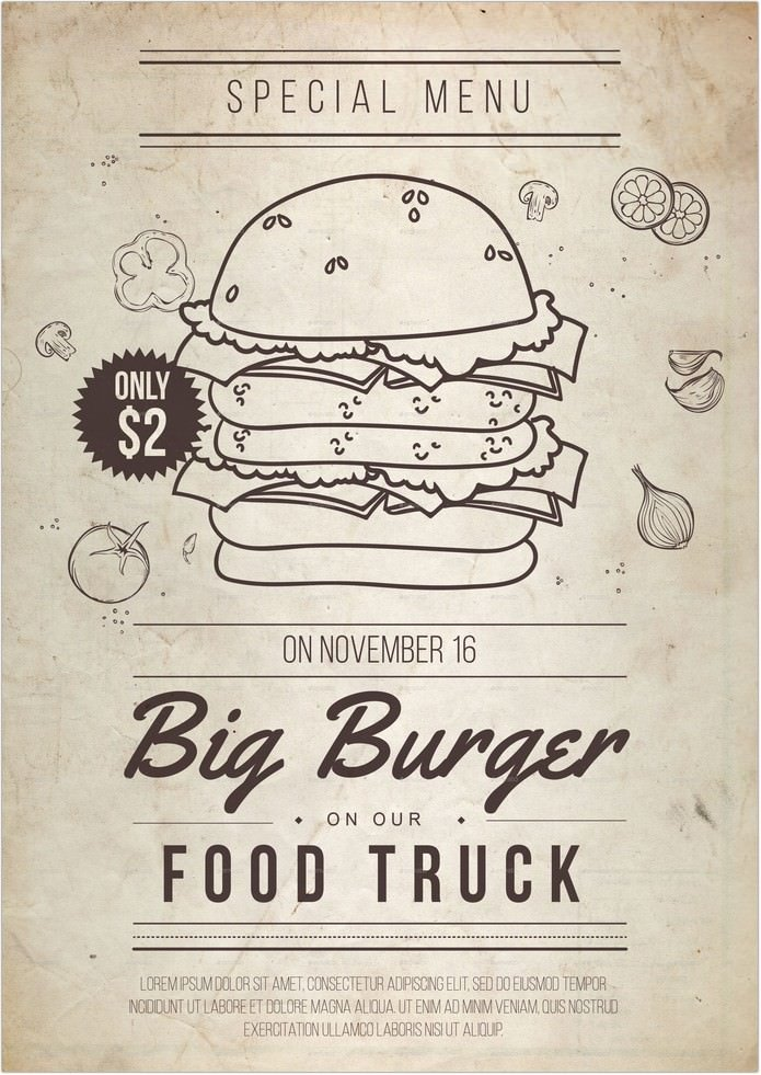 Big Burger Flyer Template