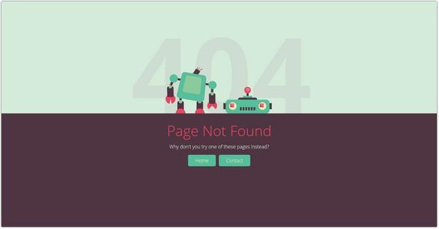 Brokebot - Animated SVG 404 Error Pages