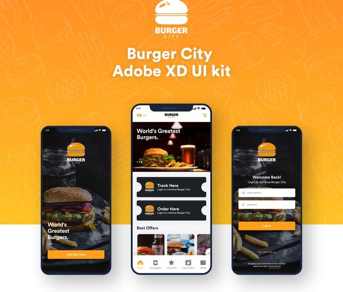 Burger City - Adobe XD UI kit