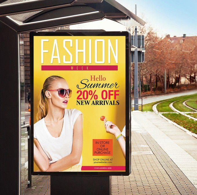 Bus Stop Billboard Banner