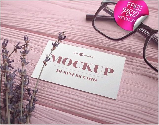 Business Card V02 Mock-Ups In PSD