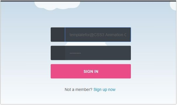 CSS3 Animation Cloud And Login Form
