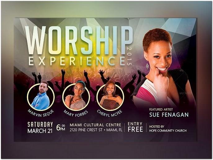 Church Concert Flyer Photoshop