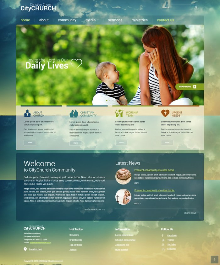 Church free bootstrap theme
