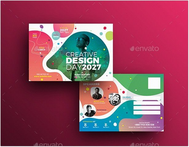 Conference Postcard Template