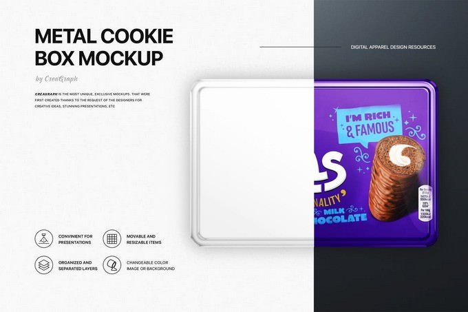 Cookie Box Mockups