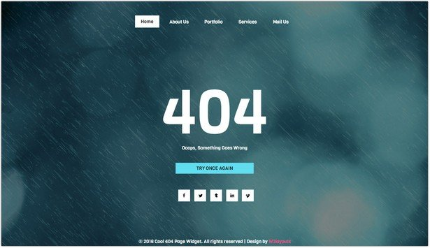 Cool 404 Page Template