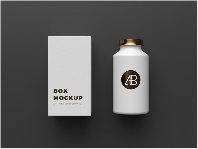 Copper Foil Bottle Packaging Mockup