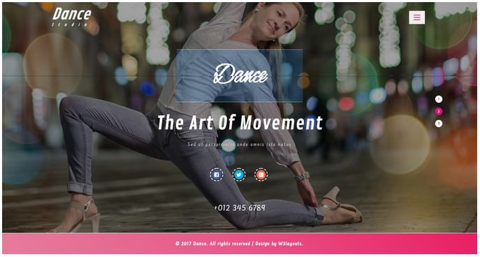 Dance Entertainment Responsive Website Template # 2