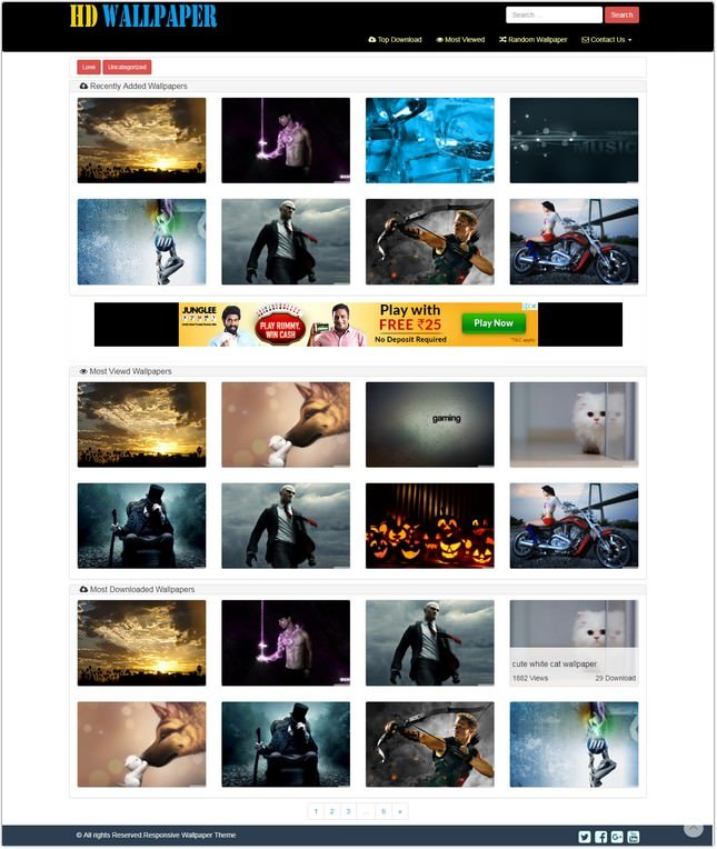 Dark Wallpaper WordPress Theme