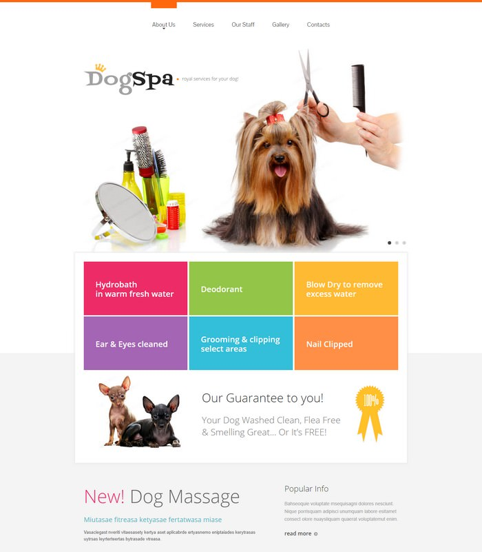 Dog Spa Responsive Website Template