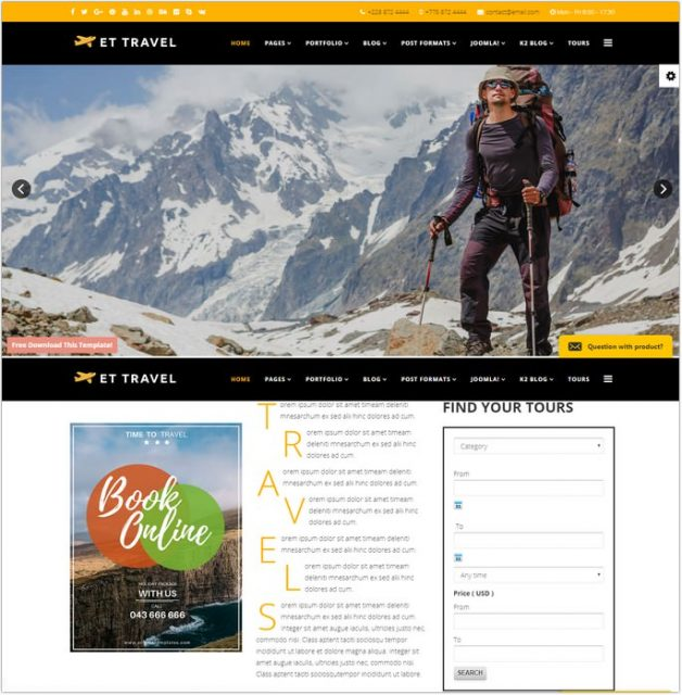 ET Travel - Travel Joomla! Templates