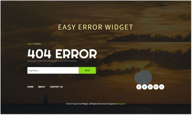 Easy Error Template