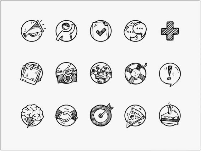 Event Application Icons Set