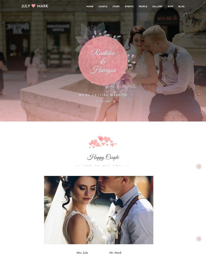 Fascination - Wedding HTML5 Template