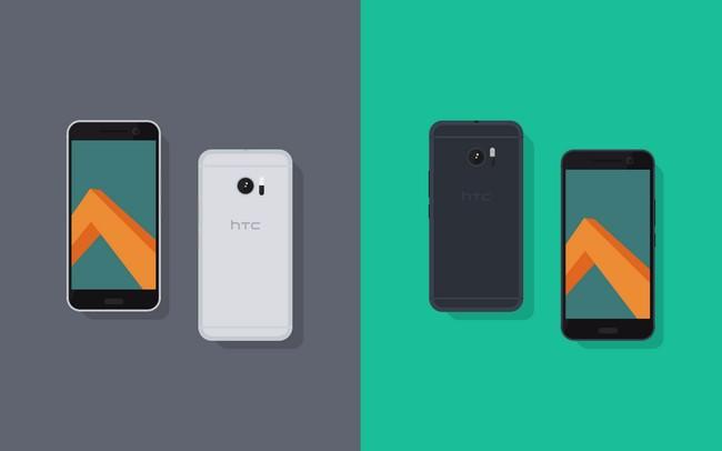 Flat HTC 10 Mockup
