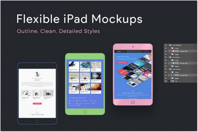 Flexible iPad Mockups