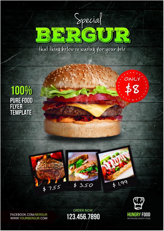 Food Bergur Flyer