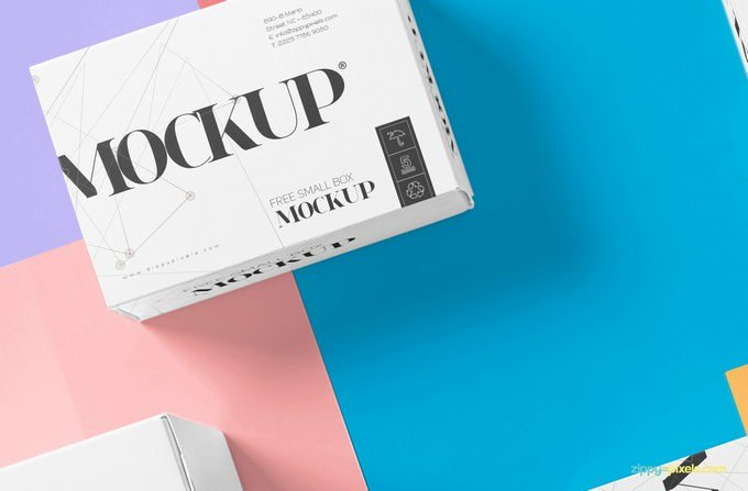 Free Beautiful Packaging Box Mockup