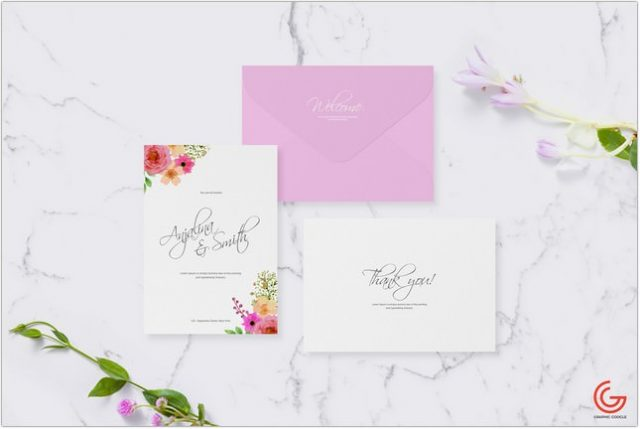 Free Invitation Card Mockup For Greetings