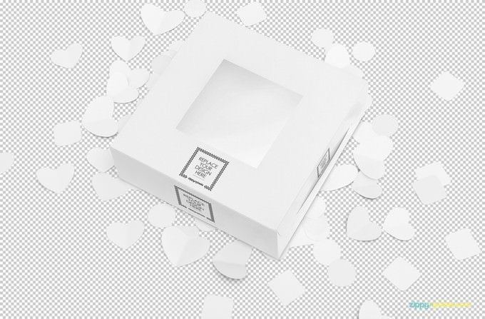 Free Lovely Cake Box Mockup