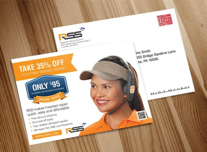 Free Postcard Mockup PSD