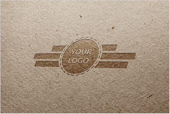 Free Pressed Paper Logo Mockup