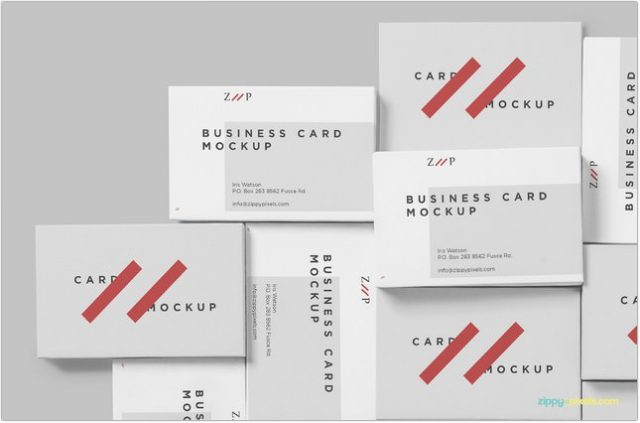 120 free business card mockup psd templates 2018 templatefor free visiting card mock up reheart Images