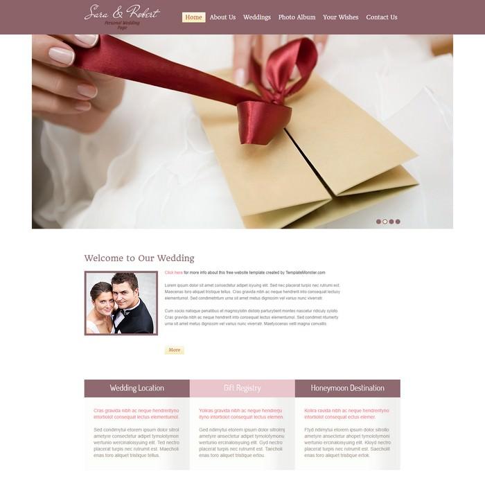 Free Website Template - Wedding
