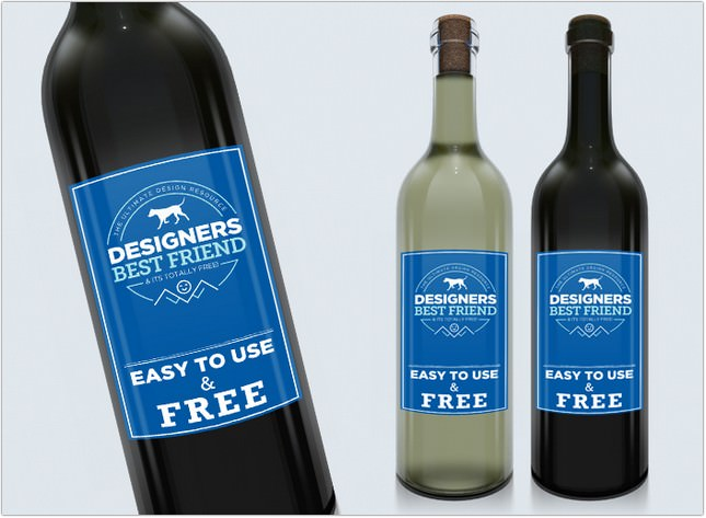 Free Wine Label Mock Up