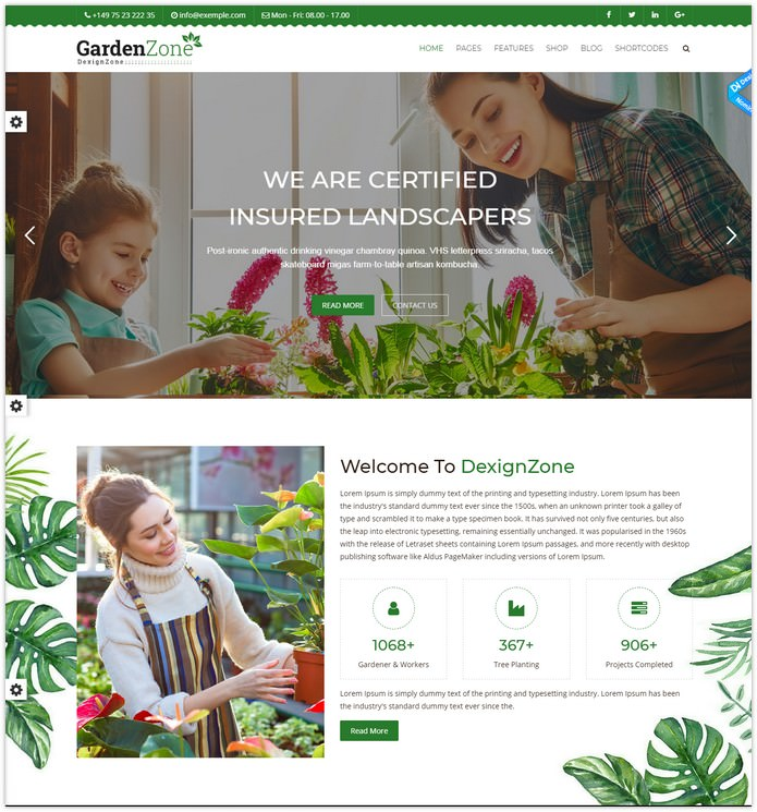 Agriculture Responsive HTML Template